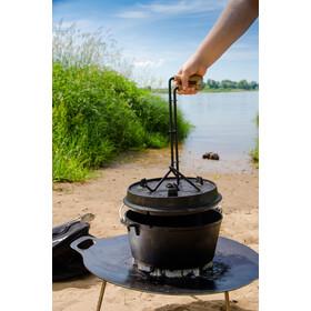 Petromax levantador profesional de la tapa del caldero para fuego - gris/marrón